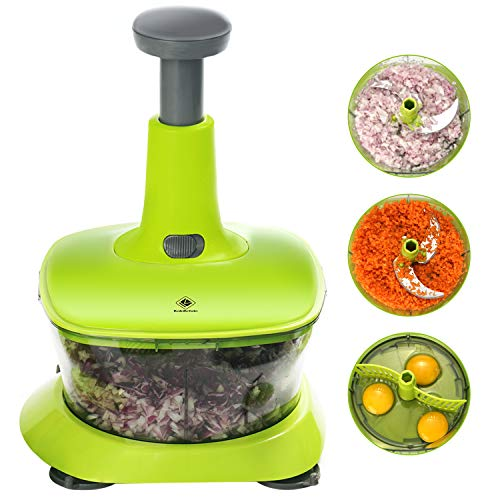 kalokelvin 9 in 1 Hand Vegetable Food Chopper with Kitchen Processor for Chopping Blending Salad Spinning Drying-7.2 Cup…