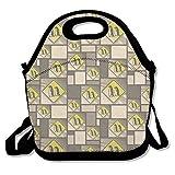 IEIDJFF Penguins Crossing Road Stylized Yellow Grey Caution Sign Handbag Fashion Playful For Man