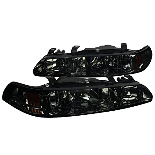 Acura Integra 1PC Smoke Lens Headlights+Tinted Corner Signal Lamps - Acura 93 Integra Corner