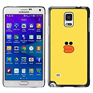 Pato Amarillo Dibujo Bath Toy Niños- Metal de aluminio y de plástico duro Caja del teléfono - Negro - Samsung Galaxy Note 4