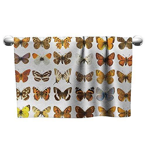 Best Bath Towel W14 x L14 Butterfly,Butterfly Miracle Wings Joy Freedom Spiritual Feminine Divine Sign Concept Art,Multicolor Children's ()