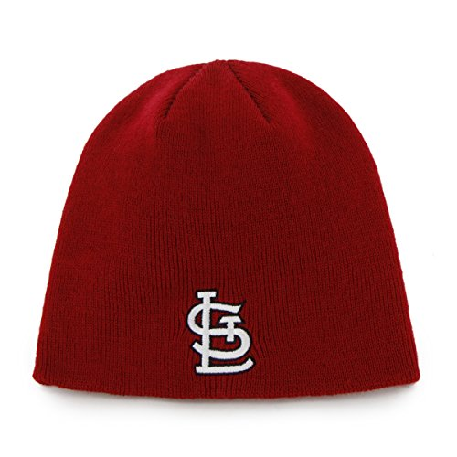 St Louis Hat (MLB St. Louis Cardinals '47 Beanie Knit Hat, Red, One)