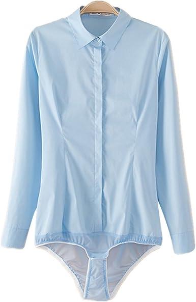 ZAMME Blusa para Cuerpo de Oficina de Mujer Body Siameses Plus Size: Amazon.es: Ropa y accesorios