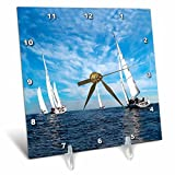 3dRose Sail Boats Desk Clock, 6 by 6-Inch Review