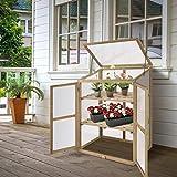 Giantex Garden Portable Wooden Cold Frame