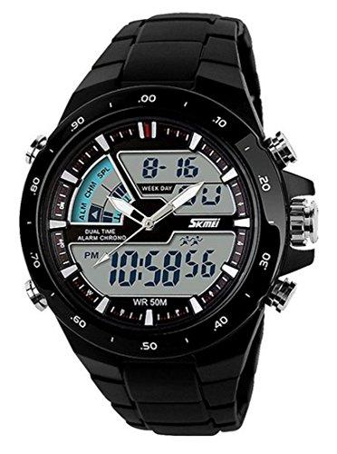 SKMEI 1016 Sport Digital Analog Watch (Black) - 1