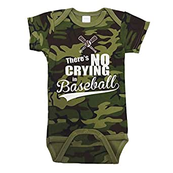 There's No Crying In Baseball Baby One Piece Newborn Camo