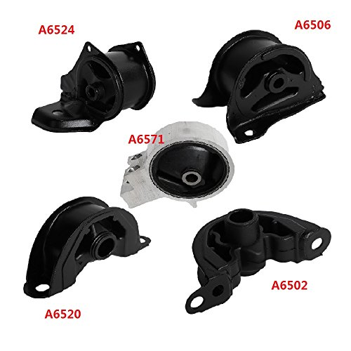Front Right Engine Motor & Trans Mount for 94-01 Acura Integra 1.8L, Set of 5 Pcs (Acura Integra Engine)