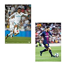 LIONEL MESSI BARCELONA + RONALDO REAL MADRID WALL POSTERS 2017 (1 OF EACH PLAYER) 24' x 36' OFFICIALLY LICENSED