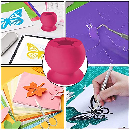 Leyerer Suctioned Vinyl Weeding Scrap Collector Waste Vinyl SiliconeFor Vinyls Weeder Crafters Suction Cup Tool Kit Fashion (Hot Pink)