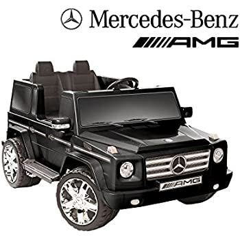 12v mercedes benz g55 amg ride on black for Mercedes benz accessories amazon