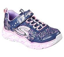 Skechers Girls' Galaxy Lights Sneaker,navy/multi,2 Medium US Little Kid
