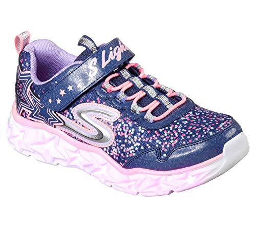 Skechers Girls' Galaxy Lights Sneaker,navy/multi,11 Medium US Little Kid (Girls Sneakers Skechers)