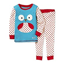 SkipHop Zoo Little Kid and Toddler Pajama Set, Otis Owl, 3T
