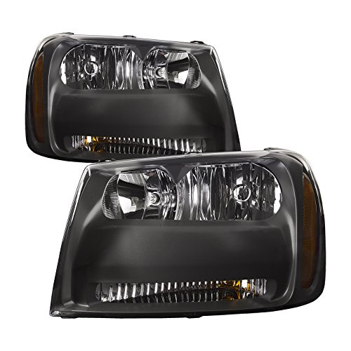 Headlights Depot Replacement for Chevy Trailblazer LT/LS Trailblazer Headlight Headlamp Halogen ()