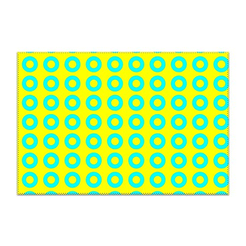 Trongr Washable Easy to Clean Green Phish Placemat for Kitchen Table Heat-resistand Table Mats 12x18 -