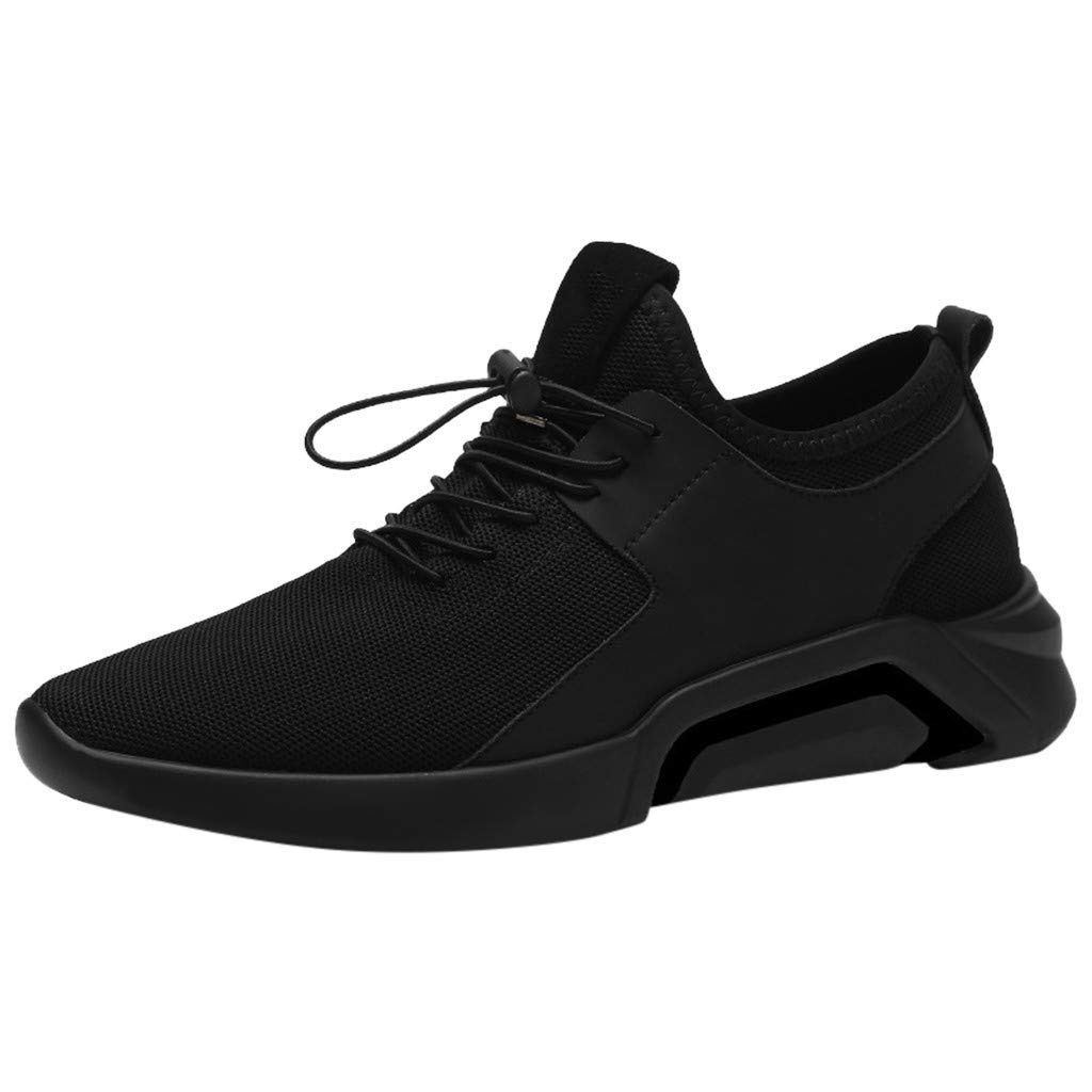 Men's Comfort Walking Shoes for Tennis Fashion Casual Lightweight Sports Sneakers (US:9.5, Black) by sweetnice Man Shoes