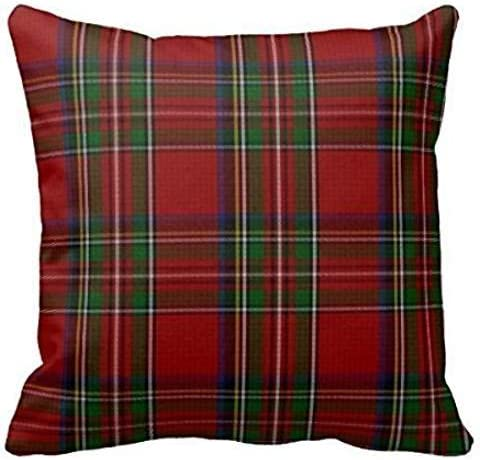 Home Decorative Stylish Royal Stewart Tartan Plaid Pillow Throw Pillow Cover Cushion Case 18