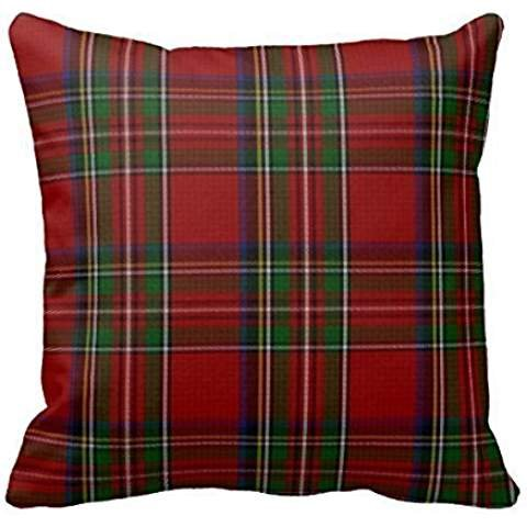 Home Decorative Stylish Royal Stewart Tartan Plaid Pillow Throw Pillow Cover Cushion Case 18 Basse Wavre EU