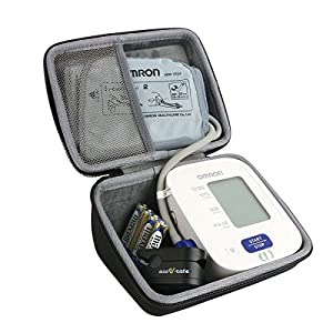 Hard Travel Case for Omron 3 Series Upper Arm Blood Pressure Monitor (BP710N) by Co2CREA