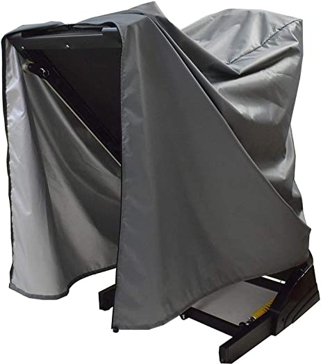 Mini Lustrous Treadmill Cover, Folding Running Machine Protective Cover Dustproof Waterproof Cover for Indoor Or Outdoor Use, 36 L x 36 W x 60 H, Gray