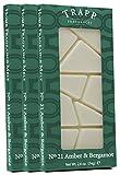 Trapp Home Fragrance Melt, No. 21 Amber & Bergamot, 2.6-Ounce, 3-Pack