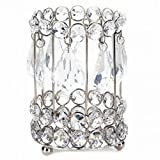 crystal gem candle holder - Smart Living Pyonlala Iron with Crystals Teardrop Glass Gems Dangle Candlelight Bounces Super Bling Crystal Drops Candle Holder 5.25 inches