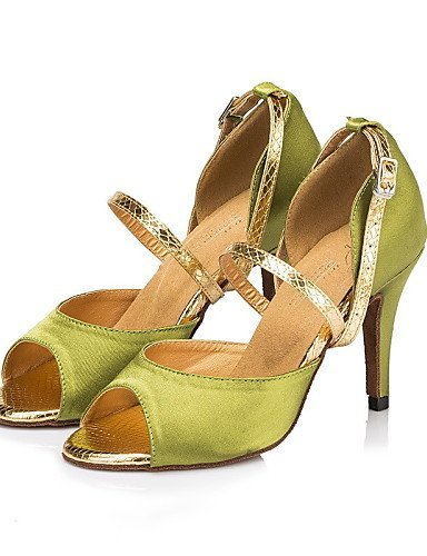 ShangYi Chaussures de danse ( Autre ) Personnalisables - Non Personnalisables ) - Talon Cubain - Cuir / Cuir Verni - Latine / Jazz , green-us8 / eu39 / uk6 / cn39 , green-us8 / eu39 / uk6 / cn39 - 8cd514