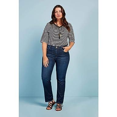 04428e003 Calça Jeans Reta Básica Escura: Amazon.com.br: Amazon Moda