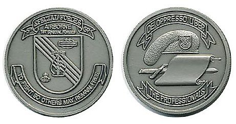 Group Challenge Coin - 5th Special Forces Group Silver Vintage Challenge Coin