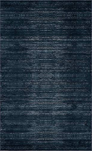 Unique Loom Uptown Collection by Jill Zarin Collection Textured Modern Navy Blue Area Rug (5' 0 x 8' 0) (Zara Rug Collection)