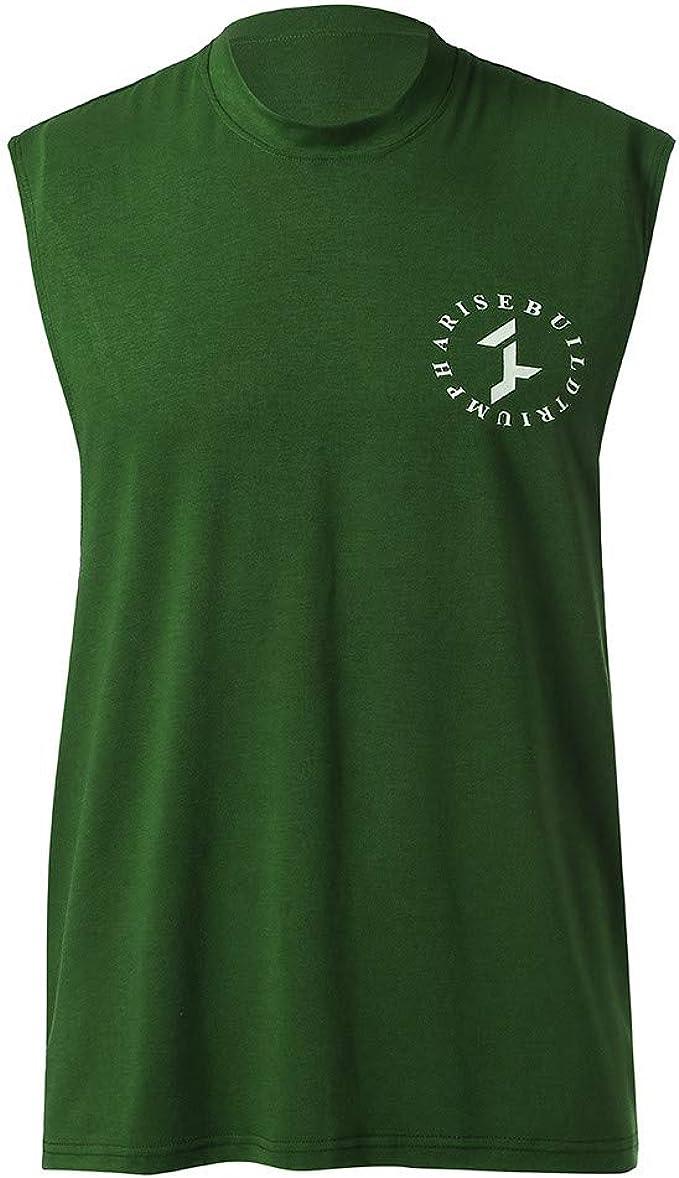 Camisetas Deportiva de Tirantes para Hombres Suelto Casuales Fitness Entrenamiento Gimnasio Algodón Cómodo Transpirables Chaleco de Verano Camiseta sin Mangas MMUJERY: Amazon.es: Ropa y accesorios