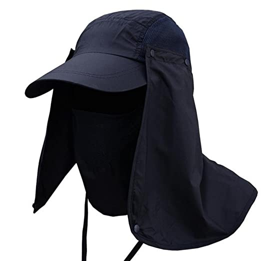 eb295c82d26 Sunyastor Summer Unisex Outdoor Removable Sun Protection Wide Brim Fishing Cap  Neck Face Flap Hat Wide