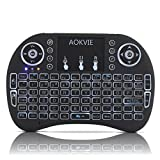 OEM Computer Keyboards AOKVIE Mini 2.4Ghz Backlit Wireless Touchpad Keyboard with Mouse for Pc