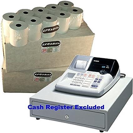 eposbits® marca 40 rollos – 2 cajas para Casio 160 CR 160 CR caja registradora: Amazon.es: Oficina y papelería