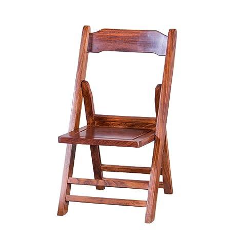 Amazon.com: Juego de sillas plegables de madera natural de ...