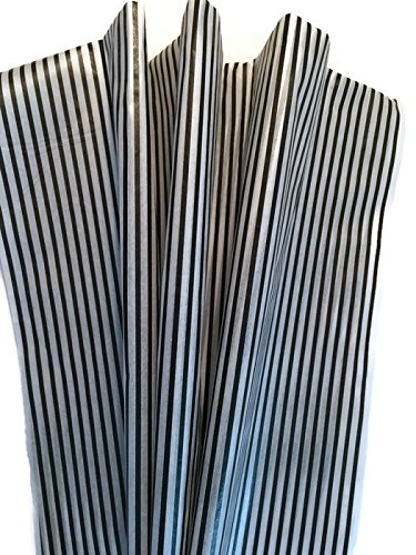 (Black & White Stripe Tissue Paper for Gift Wrapping - Classic Narrow Pinstripe - 24 Large Sheets (20x30))