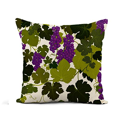 - Awowee Flax Throw Pillow Cover Grape Vines in Wine Country Airbrush Painting by Artist 18x18 Inches Pillowcase Home Decor Square Cotton Linen Pillow Case Cushion Cover