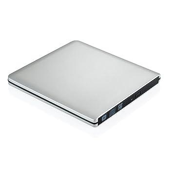 Unidad Grabadora y Lectora Óptica Externa de CD/DVD USB 3.0/2.0 para Apple Macbook, Macbook Pro, Macbook Air o otro PC Compatible con Windows 2000, ...
