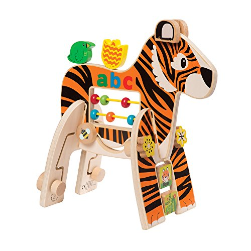 - Manhattan Toy Safari Tiger Wooden Toddler Activity Toy