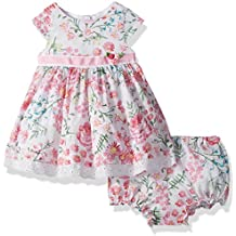 Laura Ashley London Baby Girls Short Sleeve Party Dress