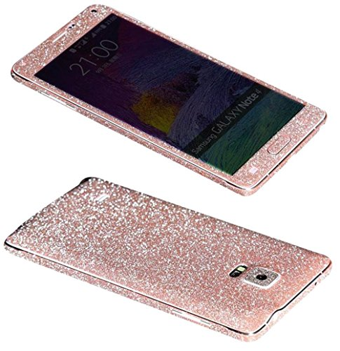Rejected all traditions Samsung Galaxy Note 4 Bling Glitter Whole Body Protector Film Sticker Decal-Light (Telephone Note)