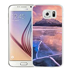 Fashion Custom Designed Cover Case For Samsung Galaxy S6 Phone Case With Frozen Lake Sunset Lock Screen_White Phone Case