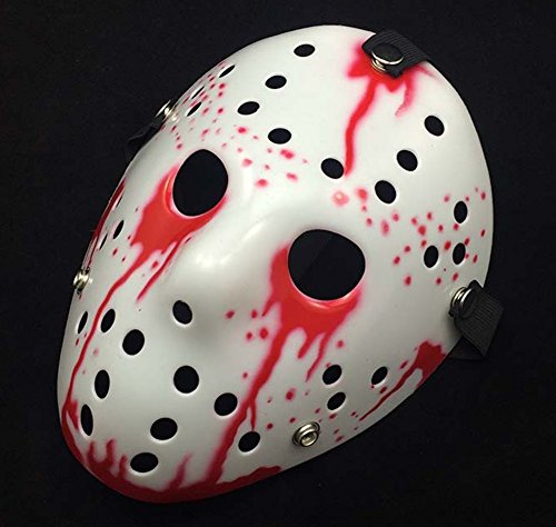 [Gmasking Friday The 13th Horror Hockey Jason Vs. Freddy Mask Halloween Costume Prop (Blood)] (New Blood Jason Costume)