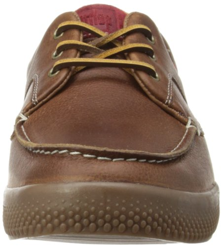 b859d2fe2f0ae7 FitFlop Mens Monty BoatMoc Leather Boat Shoes