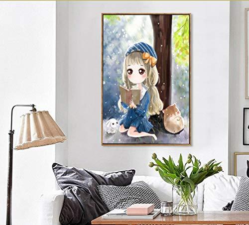 MYLOOO Diamant Bestickt Strass Diamant Mosaik Cartoon Girl Muster Muster Muster Home Decor Diamant Malerei Hand Wand Kunst 40X50 cm B07JJHXFJH | Günstig  | Garantiere Qualität und Quantität  | Zu verkaufen  855560