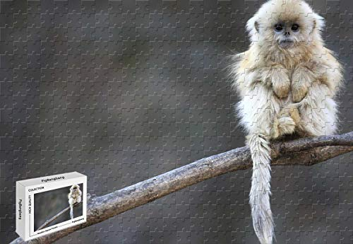 zzle - Baby Snub Nosed Monkey from Central China Wood-Material,29.5 X 19.6 Inch ()