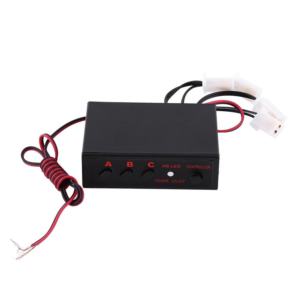 Color : White 4x3 LED Strobe Warning Light 12V Emergency Flashing Beacon Lamp for Car Van Truck