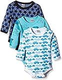 Care Baby Boys Bodysuit, Longsleeve, 3-Pack Blue (Dark Navy 778) 3 Months (Manufacturer size: 62)