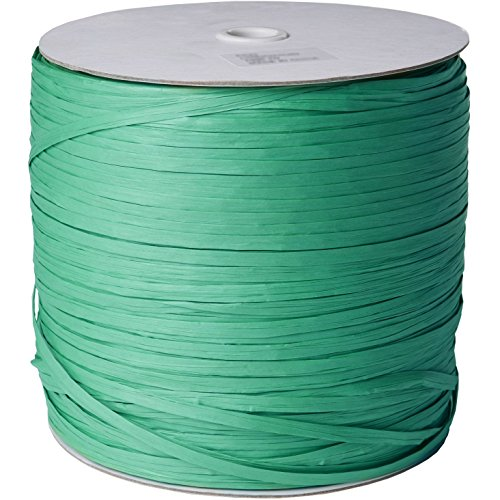 Jillson & Roberts Paper Raffia Ribbon, 1/4'' Wide x 1000 Yards, Green by Jillson Roberts
